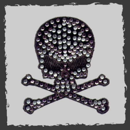 ... Bedazzled Skull And Crossbones ...