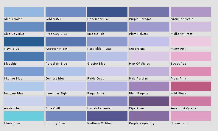 Paint Color Names For Purple
